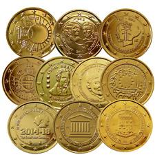 +++ 2 Euro - Belgien - 24 Karat vergoldet - verschiedene Varianten +++