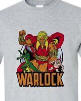 Adam Warlock T shirt retro 1970s Marvel comics gray blend graphic tee Pip Gamora