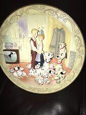 Walt Disney's Animated Classics 101 DALMATIANS 1961 DOG PUPPY 3-D Plate