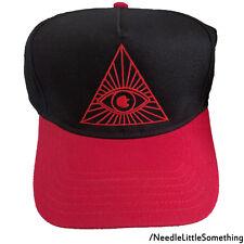 Illuminati Eye Triangle Embroidered 5-Panel Adjustable Hat