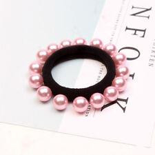 Women Girls Ponytail Holder Pink Hair Ring Rope Hairband Hair Accessories 1pcs