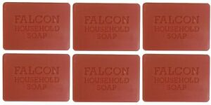 6 x Falcon Traditional Household Red Carbolic Soap 125g Fresh Smell Antiseptic