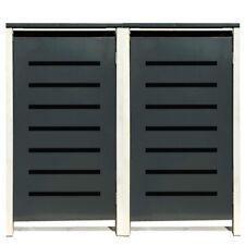 2 Tailor Mülltonnenboxen Basic für 120 Liter Tonne /Stanzung 6 /Anthrazit / Grau