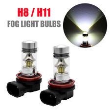2x Ampoules H11 H8 LED Feu de Phare Brouillard Lumière 100W DRL 6000k blanc