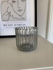 Riviera Maison Windlicht Hurricane Glas Gerippt Grau S RM Deko Kerze