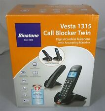Binatone Vesta 1315 Twin Duo Cordless Phone, Call Blocker & Answering Machine