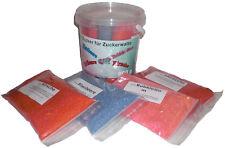 4 Sortenx200G MIX2 Farbaromazucker Für Zuckerwattemaschine Zuckerwatte Rot Blau