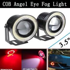 """3.5"""" Red Projector LED Fog Daytime Running DRL COB Halo Angel Eyes FIT Infiniti"""