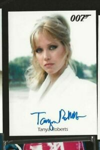 Tanya Roberts as Stacy Sutton James Bond Archives autograph card Rittenhouse