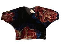 Trina Turk Viscose/Silk Women's Blouse. Size Small, Short Dolman Sleeves, NWT
