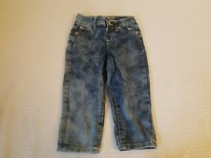Justice Jeans Capri size 8s Simply Low stone washed with hearts and rhinestones