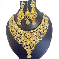 Indian Jewelry Ethnic Bollywood Gold Necklace New Traditional Fashion Set Q 8