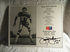 Pro Football Hall of Fame Induction Day Card Picture Jimmy Johnson SF 49ers