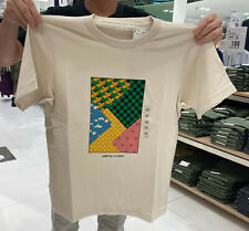 NWT UNIQLO UT DEMON SLAYER HAORI MEN Graphic Natural Short Sleeve T-shirt TEE
