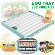 360°Turning Automatic Egg Poultry Hatch Chicken Quail Duck Incubator Turner Tray
