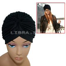 Bonnet Noir Elégant Chapeau Bandeau Serre-tête Femme Indian Style Hat Beanie