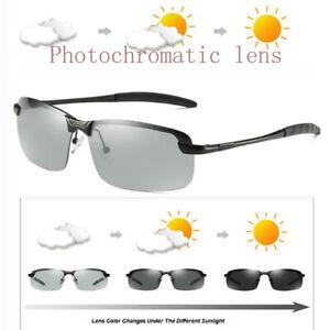 Mens Sunglasses Polarized Lens Transition Photochromatic Fashion Driving Glasses