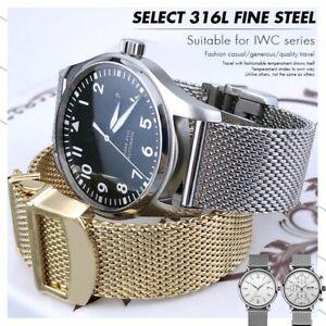 19 20 21 22mm Fine Mesh Steel Bracelet Men Band For IWC PORTUGIESER PORTOFINO