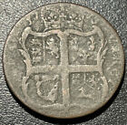 1773 USA King George III Virginia Half 1/2 Penny Colonial Copper Rare Coin