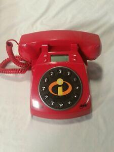 Disney Pixar The Incredibles Telephone Collector's Phone Open box
