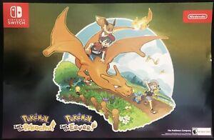 Pokemon Let's Go Pikachu / Eevee Poster GameStop Exclusive Lot of 2!