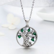 """Sterling Silver Cubic Zirconia Tree of Life Pendant Necklace with 18"""" Chain"""