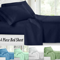 5 Size Egyptian Comfort 1800 Count 4 Piece Bed Sheet Set Deep Pocket Sheets