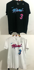 New Dwayne Wade #3 Miami Heat Dri FIT Player Name And Number T Shirt