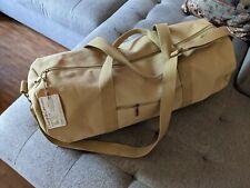 NEW Waxed Canvas Duffel Bag, small/medium (25x9x9).Weekender Carry-on Gym 33L