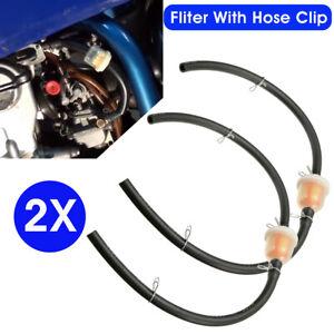 2PC FILTER & HOSE PIPE LINE FUEL GAS MINI INLINE BIKE ATV DIRT MOTO 47/49CC