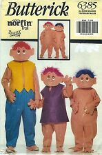 Butterick 6385 Children's Norfin Troll Costume 4 to 14   Sewing Pattern