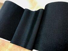 """VINTAGE 1920's 6.5"""" Made in U.S.A. Petersham Cotton Silk 1yd BLACK"""