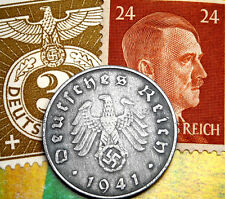 #3006 5 1 Lot of Germany 10 coins 10 Reichspfennig  with Swastika