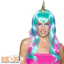 Unicorn Wig Ladies Fancy Dress Fairytale Animal Adults Womens Costume Accessory