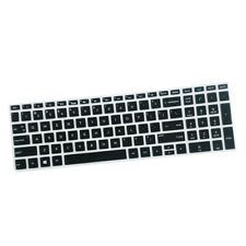 Soft Laptop Keyboard Skin Protector Cover for HP 15.6 inch Laptop BF Black Color