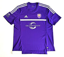Adidas Climacool Orlando City Soccer Jersey No 14 Purple Mens Size XL MLS EUC!