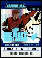 2019-20 Credentials Base Debut Ticket Access #142 Barrett Hayton RC /299