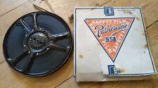 VINTAGE 9.5mm PATHESCOPE FILM - THE PRINCESS WEDS - Metal Movie Reel Projector