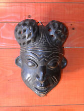 Masque , tête d'Africain (Congo) en bois sculpté ajouré.