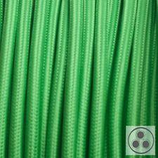 Textilkabel Stoffkabel Lampen-Kabel Stromkabel Elektrokabel Grün 3 adrig