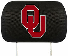 License NCAA University of Oklahoma Sooners OU Head Rest Covers Universal