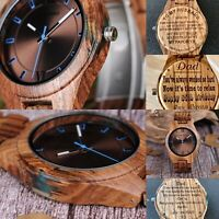 Personalised Bobo Bird Timepieces Men Wooden Watch with Dial Sport Wristwatch