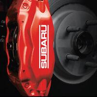 Subaru Brake Caliper HIGH TEMP. Vinyl Decal Stickers (ANY COLOR) SET OF 4