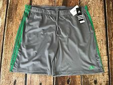 Adidas Climalite Essential Shorts Grey Green Mens Size XXL New