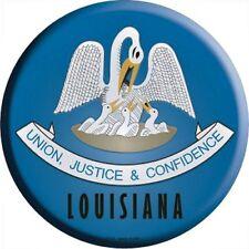 "LA Louisiana State Flag 12"" Round Metal Signs US Patriotic Man Cave Wall Decor"