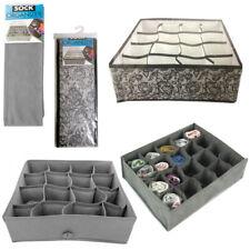 1 Sock Organizer 16 Section Drawer Underwear Closet Home Storage Box Case Folds
