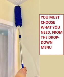 CLEANING DUSTER CLEANER MICROFIBRE TELESCOPIC EXTENDABLE DUSTER BLUE MANY PACKS