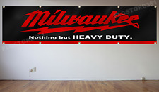 Milwaukee Tools Banner Flag 2X8Ft Nothing But Heavy Duty Flag Wall Decor Garage
