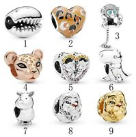 925 Silver Charm Monkey Simba Dinasour Lioness Charm fit European Bracelet