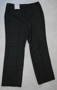 NWT Womens ANN TAYLOR Gray POLYESTER DRESS PANTS Flat CURVY Size 10P 8P Leg29
